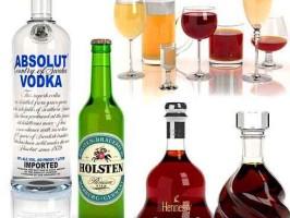 Употребление водки пива и вина