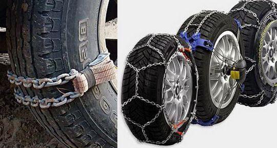 Разновидности цепей на колеса